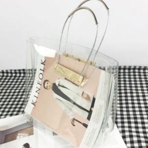 Handbags - New Transparent Handbag Tote Clear PVC
